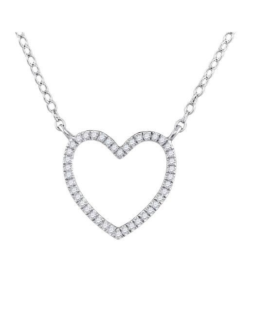 Cosanuova - Diamond Open Heart Necklace In 10k White Gold - Lyst