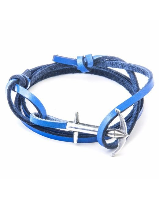 Anchor & Crew   Royal Blue Admiral Silver & Leather Bracelet for Men   Lyst