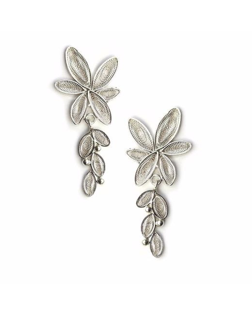 Kitik Jewelry   Metallic Lari Silver Earrings   Lyst