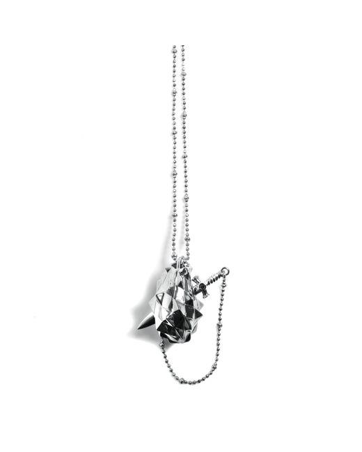 Kasun - Metallic Vampire Heart Pendant Silver - Lyst
