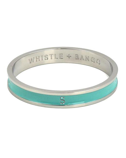 Whistle & Bango | Metallic 's' Alphabet Bangle Mint | Lyst