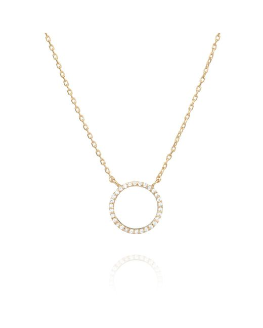 Astrid & Miyu - Metallic Tuxedo Circle Necklace In Gold - Lyst