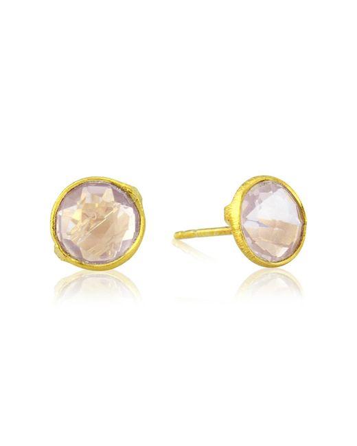 Auree Jewellery - Metallic Siena Gold Vermeil & Rose Quartz Stud Earrings - Lyst