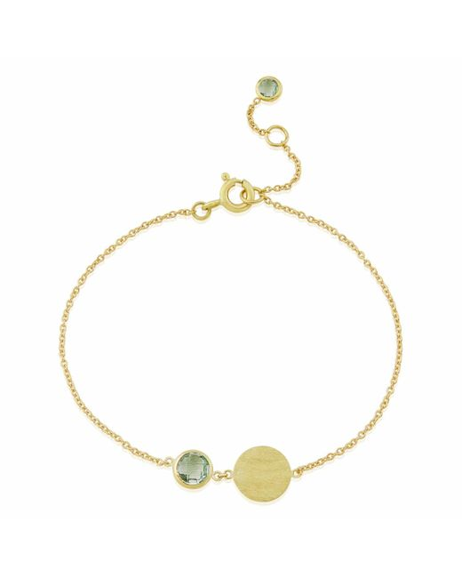 Auree Jewellery | Metallic Bali 9ct Gold August Birthstone Bracelet Green Amethyst | Lyst