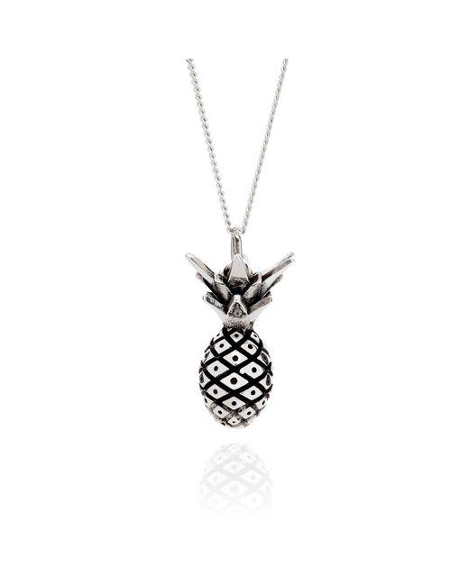 Lee Renee - Metallic Pineapple Necklace Silver - Lyst