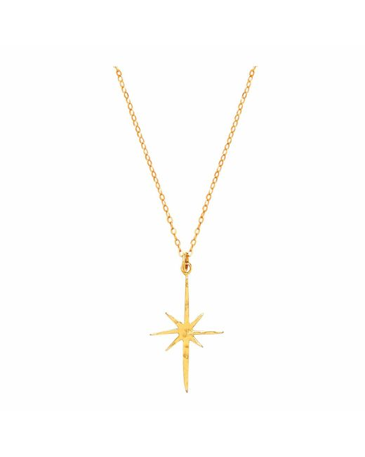 Ottoman Hands - Metallic Small Gold Star Necklace - Lyst