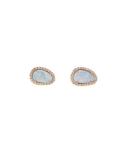 Ri Noor - Multicolor White Opal Slice & Diamond Earrings - Lyst
