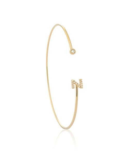 Astrid & Miyu - Metallic Gold Initial Z Bangle - Lyst