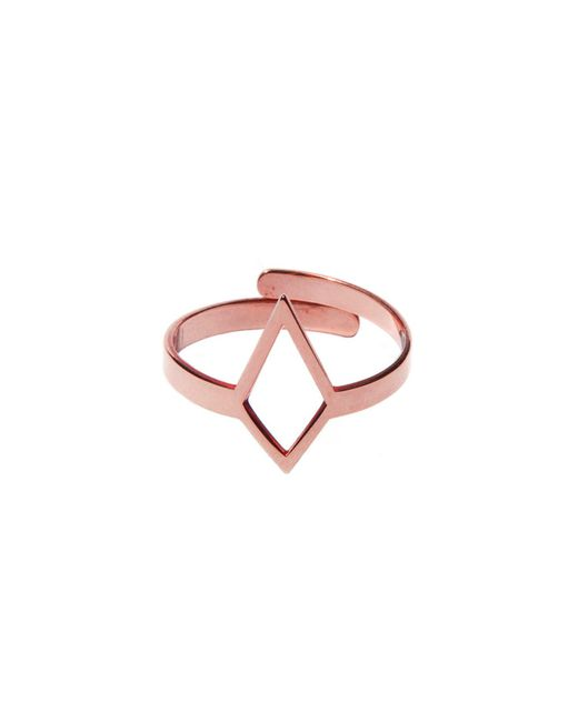 Dutch Basics   Metallic Ruit Adjustable Knuckle Ring Small Rose Gold   Lyst