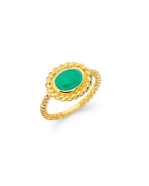 Mielini | Paulina Ring Green Agate | Lyst