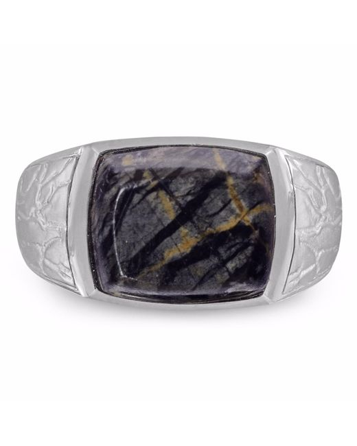 LMJ - Gray Grey Picture Jasper Stone Ring for Men - Lyst