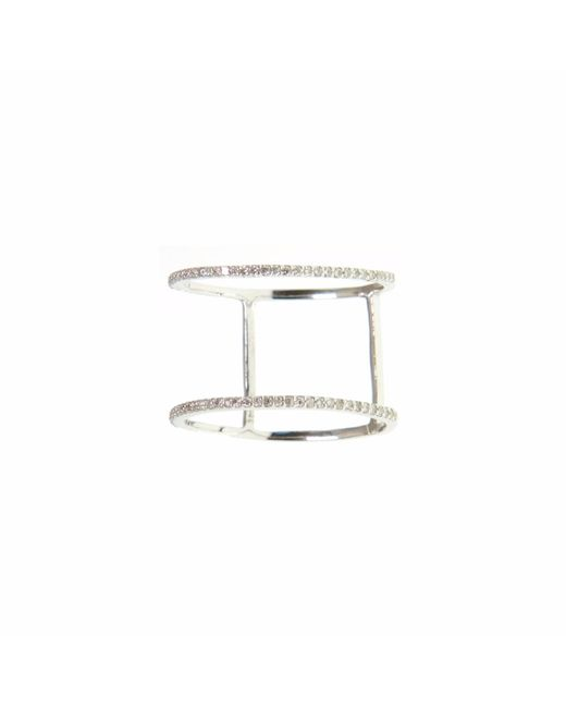 Ri Noor | Metallic Diamond Double Band Ring | Lyst