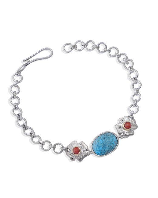 Emma Chapman Jewels - Blue Aztec Coral Turquoise Bracelet - Lyst