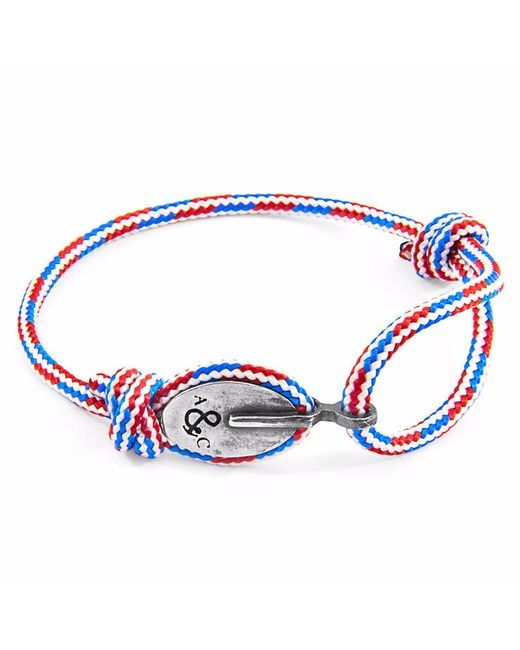 Anchor & Crew | Multicolor Project-rwb Red White & Blue London Silver And Rope Bracelet for Men | Lyst