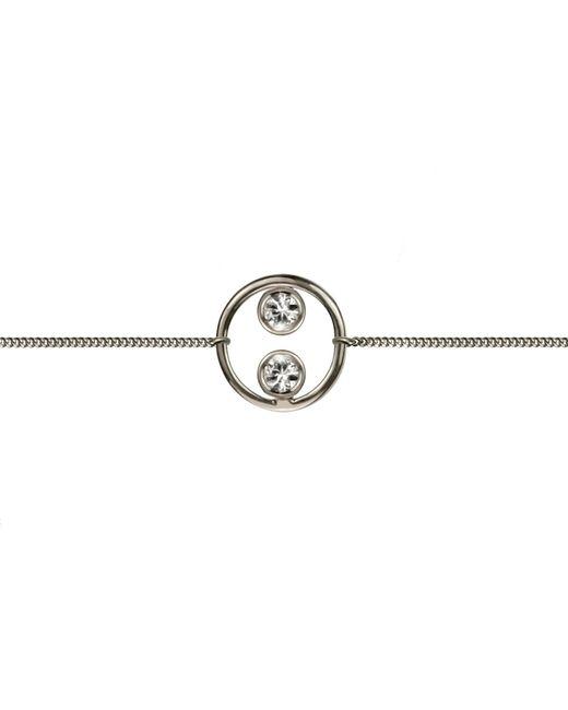 Lee Renee | Metallic Halo Bracelet Silver & White Sapphires | Lyst