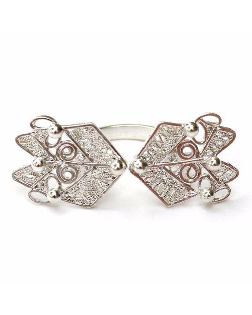 Kitik Jewelry - Metallic Ika Silver Ring - Lyst