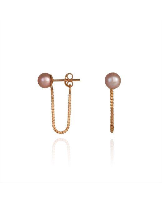Cara Tonkin | Metallic Orbit Chain Loop Earrings Rose Gold | Lyst