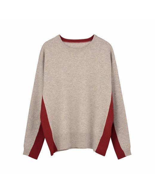 Ille De Cocos | Multicolor Rib Insert Sweater Bronze Marl Chilli | Lyst