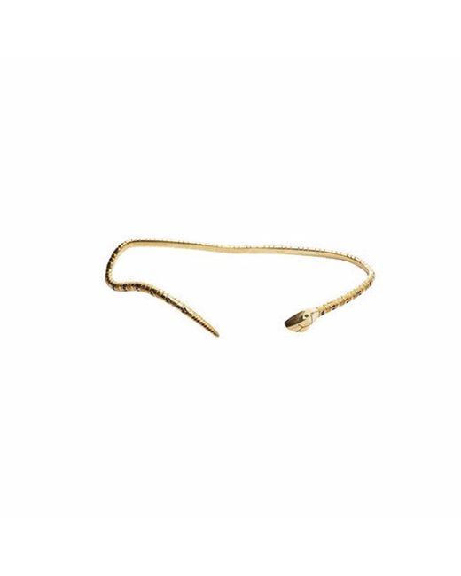 QIYADA | Metallic Snake Palm Cuff | Lyst