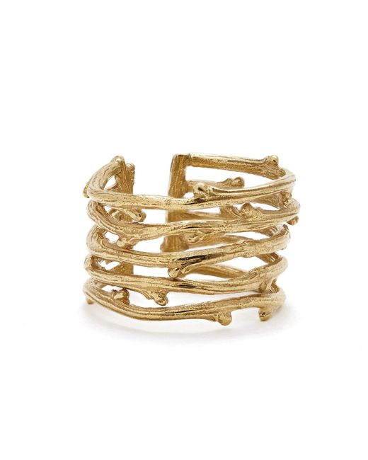 Chupi | Metallic Love Is All You Need Twig Ring Gold | Lyst