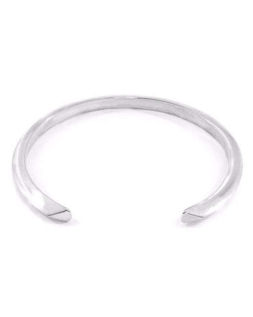 Anchor & Crew - Metallic Benson Triagonal Maxi Silver Bangle for Men - Lyst