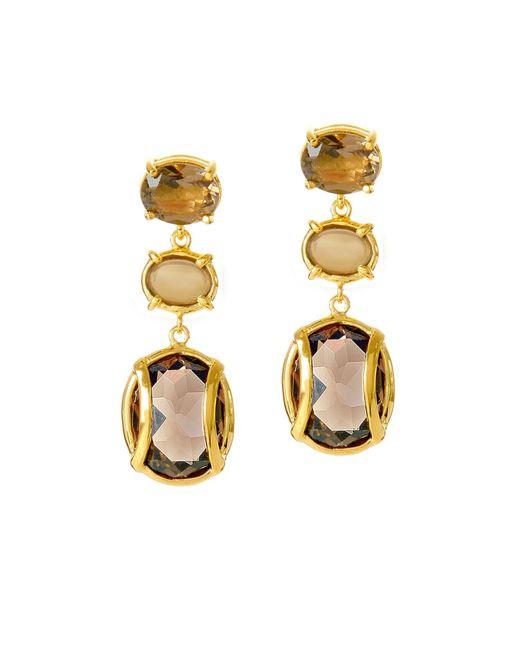 Alexandra Alberta | Metallic Lexington Smokey Quartz Earrings | Lyst