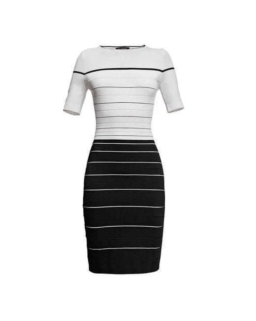 Rumour London - White Regatta Striped Monochrome Dress - Lyst