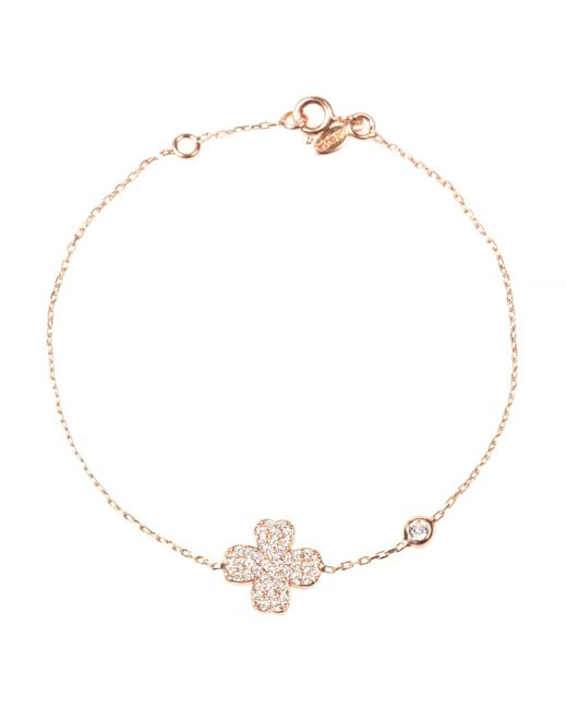 Latelita London | Metallic Lucky Clover Bracelet Rosegold | Lyst