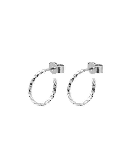 Myia Bonner - Metallic Silver Mini Twist Hoop Earrings - Lyst
