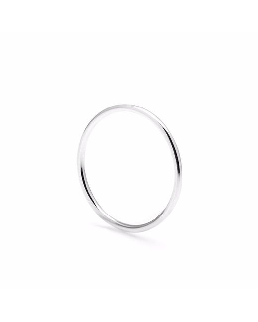 Myia Bonner - Metallic Silver Round Stacking Ring - Lyst