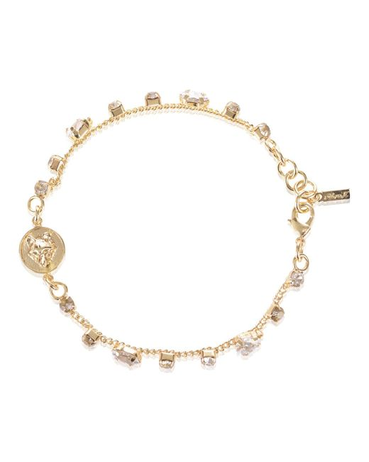 Alexa K | Metallic Crystallised Bracelet Gold | Lyst