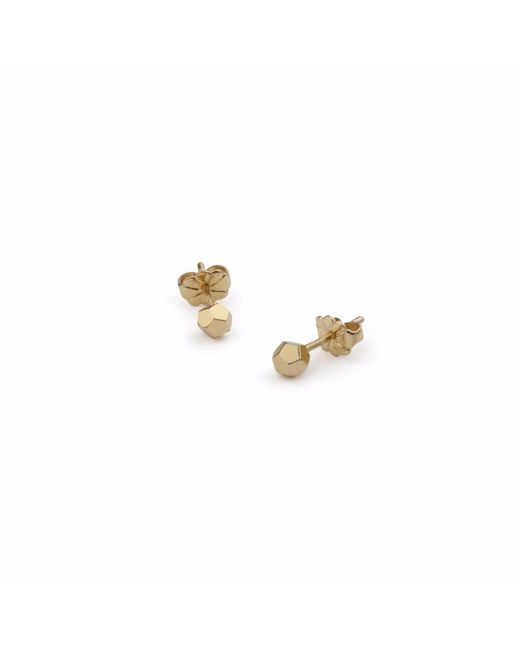 Myia Bonner | Metallic Gold Dodecahedron Stud Earrings | Lyst