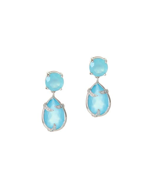 Alexandra Alberta | Runyon Canyon Blue Chalcedony Earrings | Lyst