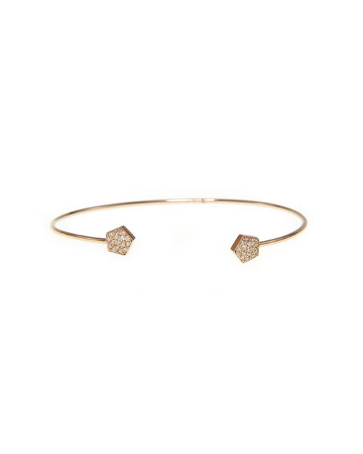 Ri Noor - Metallic Pentagon Diamond Bangle - Lyst