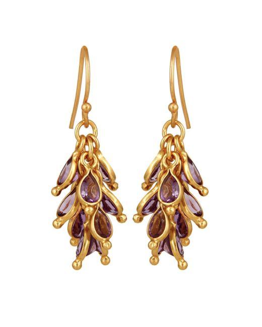 Carousel Jewels - Metallic Amethyst Cluster Earrings - Lyst