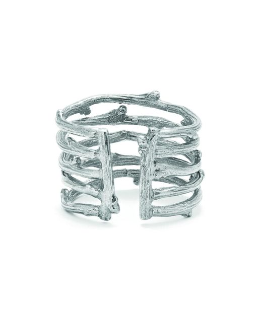 Chupi   Metallic Love Is All You Need Twig Ring In Silver   Lyst