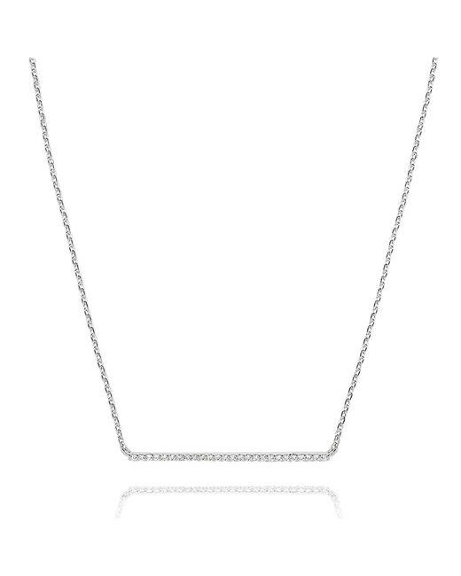 Astrid & Miyu - Metallic Walk The Line Big Bar Necklace In Silver - Lyst