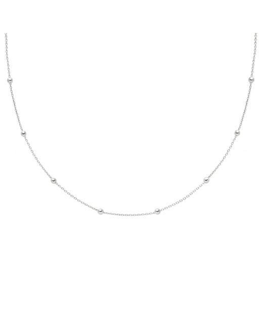 Astrid & Miyu - Metallic Basic Large Beaded Choker In Silver - Lyst