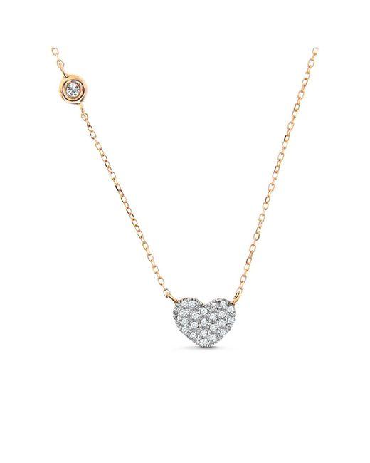 Cosanuova - Metallic Heart Necklace 14k Rose Gold - Lyst