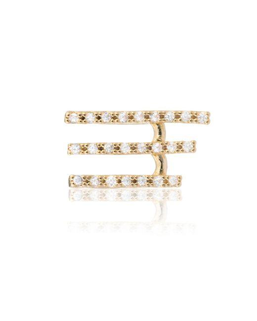Astrid & Miyu   Metallic Crystal Armour Ear Cuff Gold   Lyst