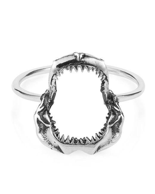 Lee Renee - Metallic Shark Jawbone Ring Silver - Lyst