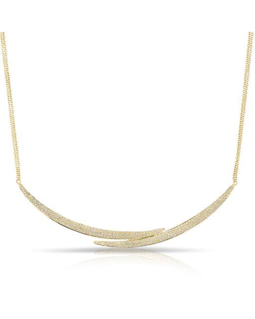 Anne Sisteron - Metallic 14kt Yellow Gold Diamond Horn Wrap Necklace - Lyst