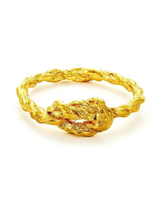 Chupi | Metallic Forget Me Knot Ring Gold | Lyst
