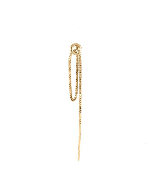 Lee Renee - Metallic Hoop & Chain Single Earring Gold Vermeil - Lyst