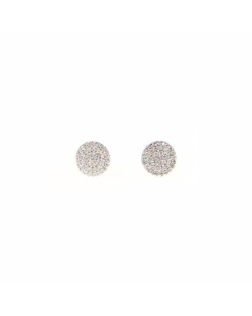 Ri Noor - Metallic Pave Diamond Disc Stud Earrings - Lyst