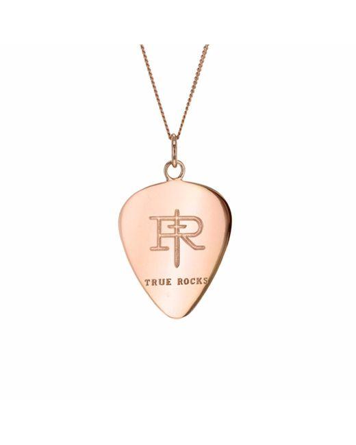True Rocks - Pink 18 Carat Rose Gold Plated Plectrum Pendant - Lyst