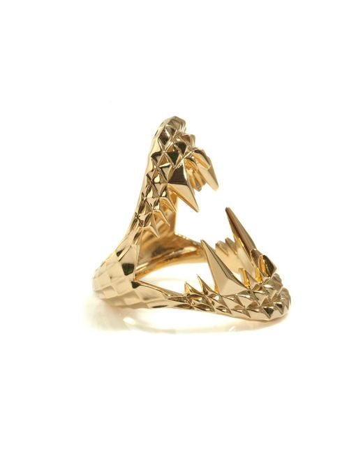 Kasun | Metallic Vampire Bite Ring Gold | Lyst