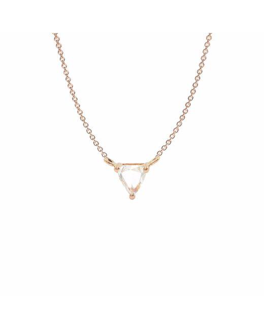 Ri Noor - Metallic Diamond Pendant In 18k Rose Gold - Lyst