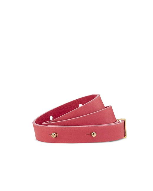NINE TO FIVE | Red Golden Eyes Belt Elbe Coral | Lyst