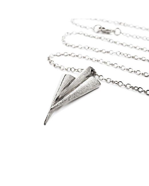 Ona Chan Jewelry | Metallic Three Daggers Necklace Rhodium | Lyst